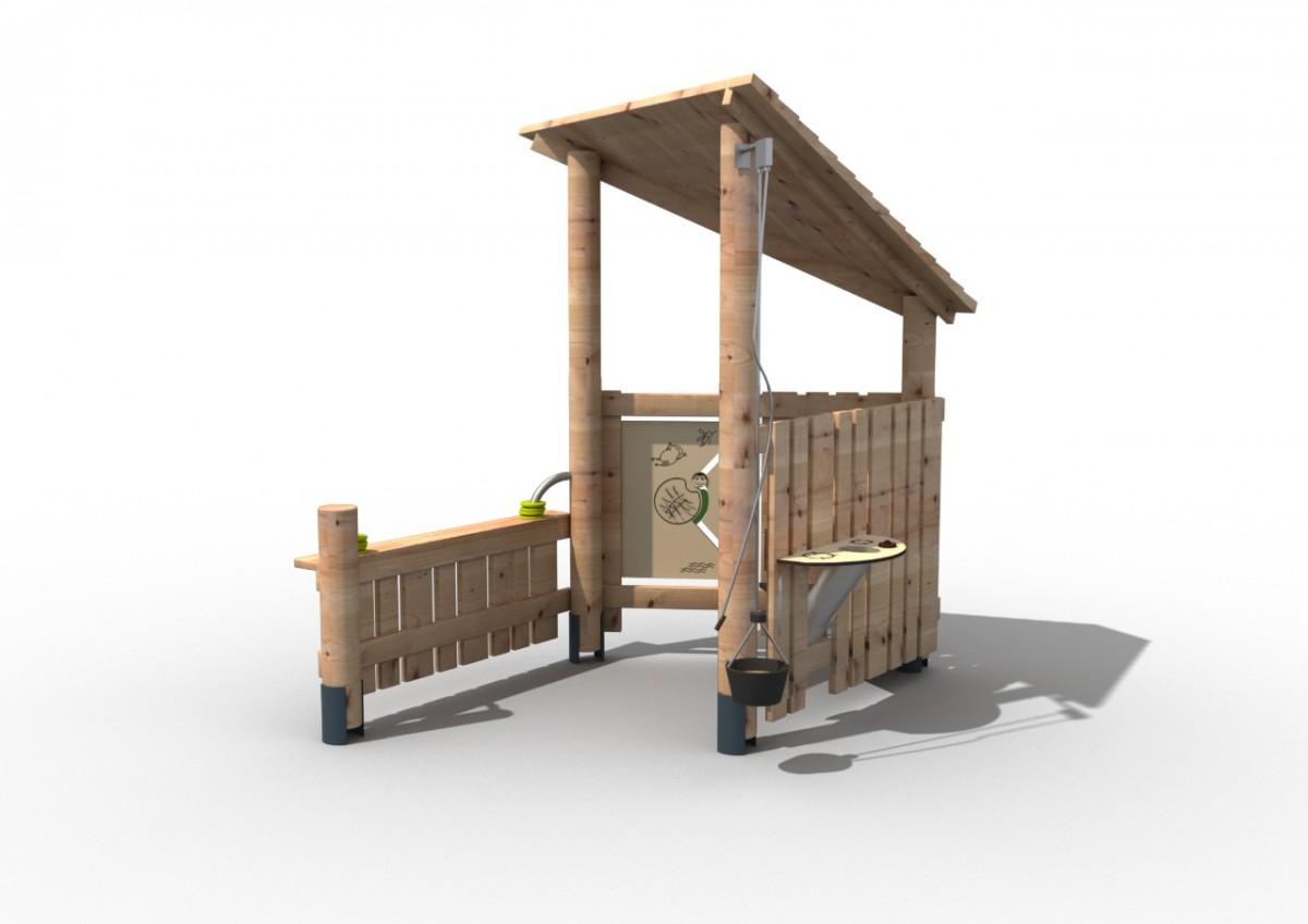Игровой домик для игры с песком